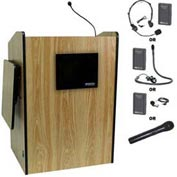 Wireless Multimedia Presentation Plus Podium - Medium Oak