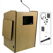 Wireless Multimedia Presentation Plus Podium - Maple