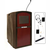 Wireless Pinnacle Full Height Podium / Lectern Mahogany