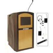 Wireless Pinnacle Full Height Podium / Lectern Maple