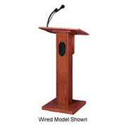 Wireless Elite Podium / Lectern - Medium Oak