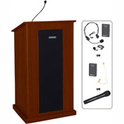 UHF Wireless Chancellor Podium / Lectern - Mahogany