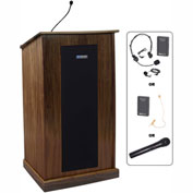 UHF Wireless Chancellor Podium / Lectern - Walnut