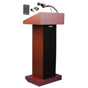 Wireless Executive Sound Column Podium / Lectern- Mahogany