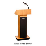 Wireless Executive Sound Column Podium / Lectern - Light Oak