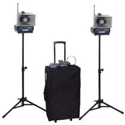 Deluxe Half-Mile Hailer Kit with Wireless Powered Speakers