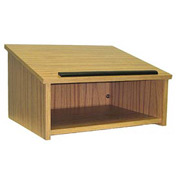 Tabletop Podium / Lectern Without Sound - Medium Oak