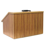 Non-Sound Folding Tabletop Podium / Lectern - Medium Oak