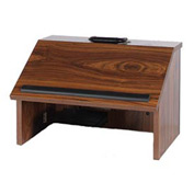 Non-Sound Folding Tabletop Podium / Lectern - Walnut