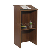 Non-Sound Full Height Podium / Lectern-Mahogany
