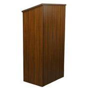 Non-Sound Full Height Podium / Lectern-Walnut
