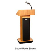Executive non-sound Column Podium / Lectern - Light Oak