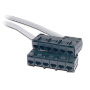 APC® Data Distribution Cable, CAT5e UTP CMR Gray, 6xRJ-45 Jack to 6xRJ-45 Jack, 45-ft.