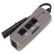 APC Notebook Surge Protector for AC, Phone and Network Lines,  100-240V