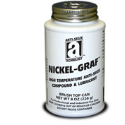 NICKEL-GRAF™ Nickel & Graphite Based Anti-Seize 2600°F, 8oz. Brush Top 12/Case - 13008 - Pkg Qty 12