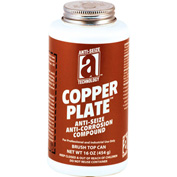 COPPER PLATE™ Anti-Seize W/O Graphite, Aluminum 1800°F, 1 Lb. Brush Top 12/Case - 21018 - Pkg Qty 12