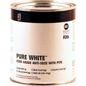 PURE WHITE™ Food Grade Anti Seize w/PTFE 475°F, 2 Lb. Can 12/Case - 31025 - Pkg Qty 12