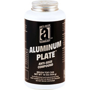 ALUMINUM PLATE™ Anti-Seize W/O Copper 2000°F, 1 Lb. Brush Top 12/Case - 32018 - Pkg Qty 12