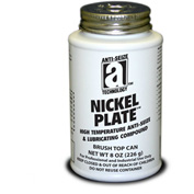 NICKEL PLATE™ Anti-Seize w/Graphite, 2600°F, 8oz. Brush Top 12/Case - 35010 - Pkg Qty 12