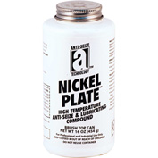 NICKEL PLATE™ Anti-Seize w/Graphite, 2600°F, 1 Lb. Brush Top 12/Case - 35018 - Pkg Qty 12