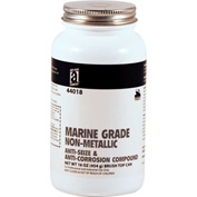 MARINE GRADE™ Non-Metallic Anti-Seize, 1 Lb. Brush Top 12/Case - 44018 - Pkg Qty 12