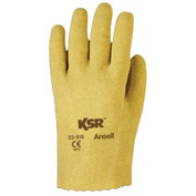 KSR Vinyl Coated Gloves, Ansell 22-515-10, 12 Pairs/Pack