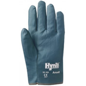 Hynit Blue Nitrile Gloves, Slip-on Cuff, Ansell 32-105-9, 12 Pairs/Pack