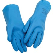 Natural Blue Chemical Resistant Gloves, Ansell 88-356, Unsupported, Unlined, Size 9, 1 Pair - Pkg Qty 12