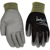 HyFlex® Lite Gloves, Ansell 11-600, Black Foamed PU Palm Coat, Size 8, 1 Pair - Pkg Qty 12