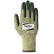 HyFlex Cut Resistant Gloves, Ansell 11-511, Green Nitrile Palm Coat, Size 9, 1 Pair