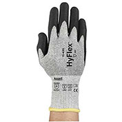 HyFlex® Polyurethane Coated Cut Resistant Gloves, Ansell 11-435, PU Palm Coat, Size 10, 1 Pair