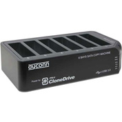 "Dubbler Dock Pro+ USB 3.0 6-Bay 1:5 Hard Drive Duplicator 2.5/3.5"" HDD with HDD Clone"
