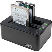 "USB 3.0 Dubbler Dock Pro 2.5/3.5"" HDD with HDD Clone DoD Erase Turbo USB Software"