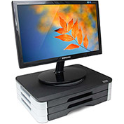 3 Tray Monitor/Printer Swivel Stand