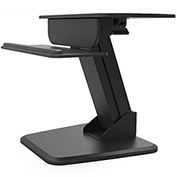 Dyconn Ergonomic Heavy-Duty Adjustable Sit and Stand Desktop Workstation, Black