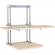 Dyconn Ergonomic Height Adjustable Sit Stand Desk Solution