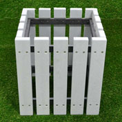 """Polly Products Economizer 20"""" Planter, Charcoal"""