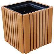 "Polly Products 22.5"" Cubed Planter Box, Brown"