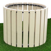 "Polly Products 30"" Diameter Round Planter, Charcoal"