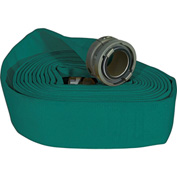 "Armored Textiles N52H25HDG50N JAFLINE HD Double Jacket Fire Hose, 2-1/2"" X 50 Ft, 400 PSI, Green"