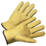 4000 Series Pigskin Leather Driver Gloves, 4800L, Pack of 12 Pairs