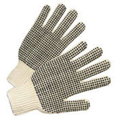 PVC Dot String Knit Gloves, Anchor 708SKBS, 12 Pairs/Dozen