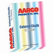 Aarco Colored Chalk 12 Boxes - Pkg Qty 2