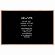 "Aarco Red Oak Framed Letter Board Message Center - 72""W x 48""H"