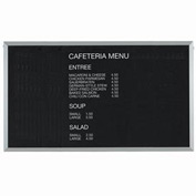 "Aarco Aluminum Framed Letter Board Message Center - 60""W x 36""H"