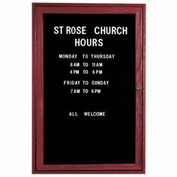 "Aarco 1 Door Cherry Enclosed Changeable Letter Board - 24""W x 36""H"