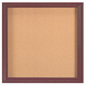 "Aarco 1 Door Framed Enclosed Bulletin Board Bronzed Anod. - 36""W x 36""H"