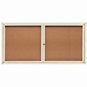 "Aarco 2 Door Framed Enclosed Bulletin Board - 72""W x 36""H"