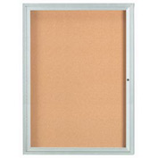 "Aarco 1 Door Framed Illuminated Enclosed Bulletin Board - 36""W x 48""H"