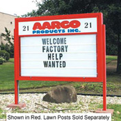 """Aarco Double Sided Marquee w/ Header - 72""""W x 52""""H"""